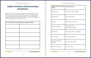 Digital Solutions Brainstorming Worksheet