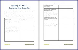 Leading in Crisis - Brainstorming Checklist