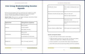 Live Group Brainstorming Session Agenda