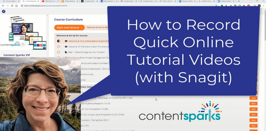 How to Create Quick Online Video Tutorials