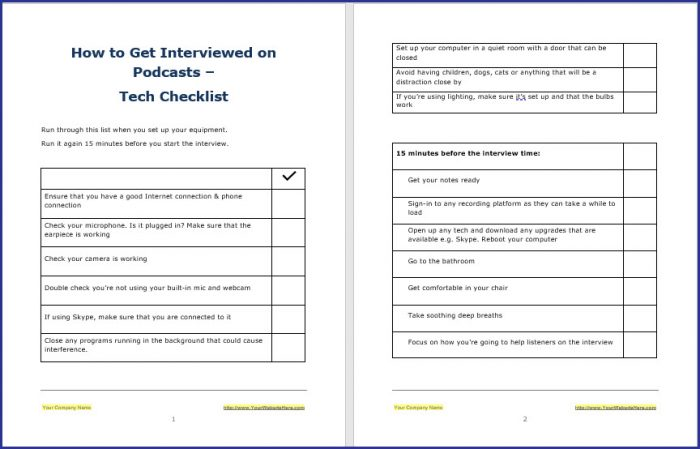 How to Get Interviewed on Podcasts - Tech Checklist