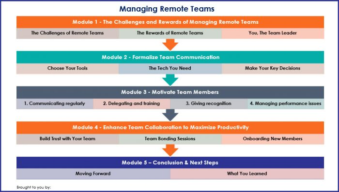 Managing Remote Teams - Overview Infographic