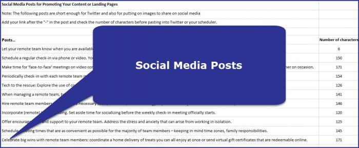 Managing Remote Teams - Social Media Posts