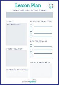 Online Course Lesson Plan