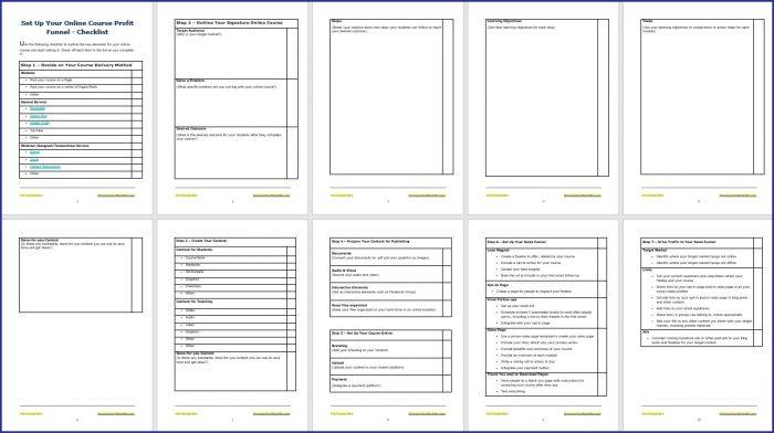 Set Up Your Online Course Profit Funnel Checklist