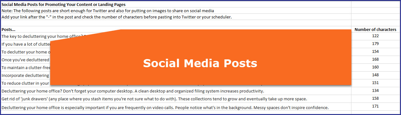 Decluttering Your Home Office - Social Media Posts