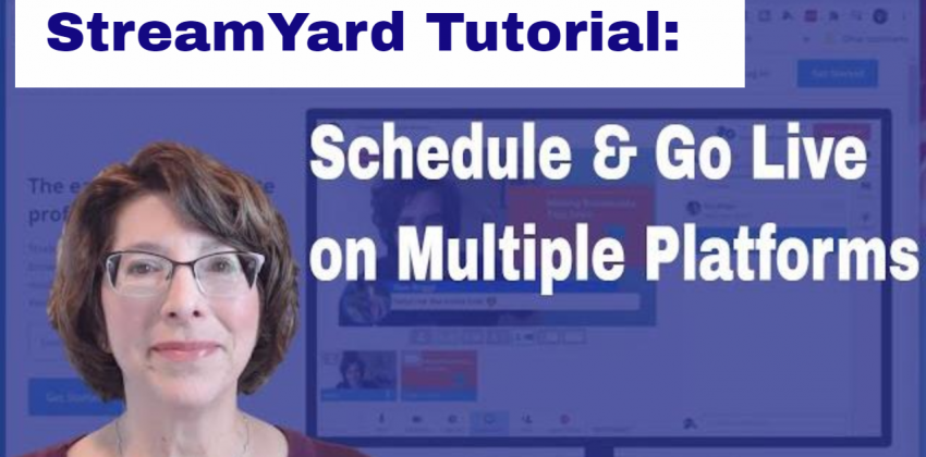 StreamYard Tutorial: Schedule and Go Live on Facebook and YouTube