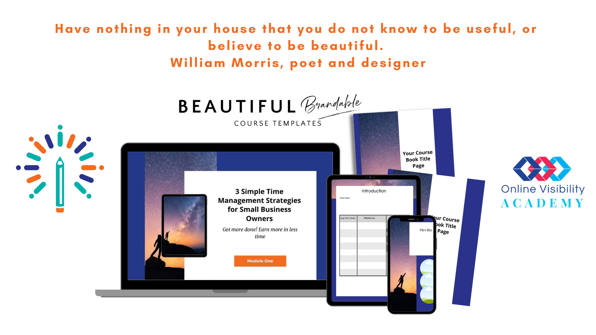 beautiful online course templates