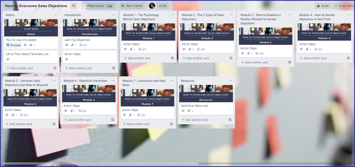 Course Trello Board