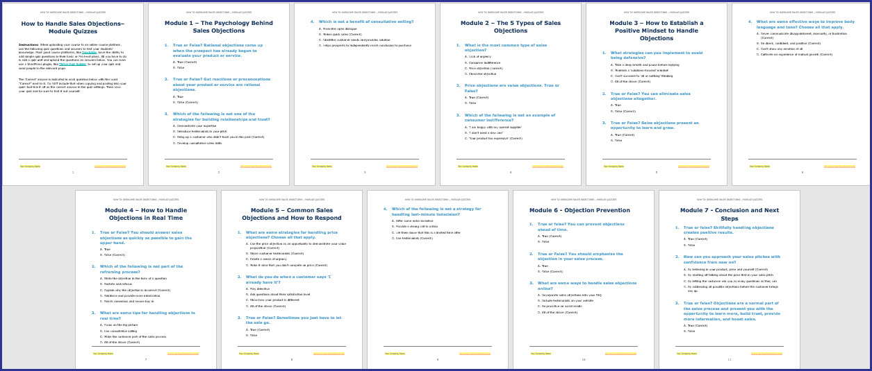 Module Quizzes