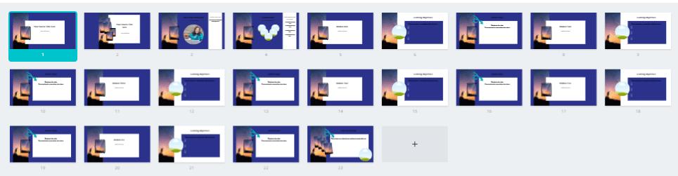 Slide Addition Thumbnails
