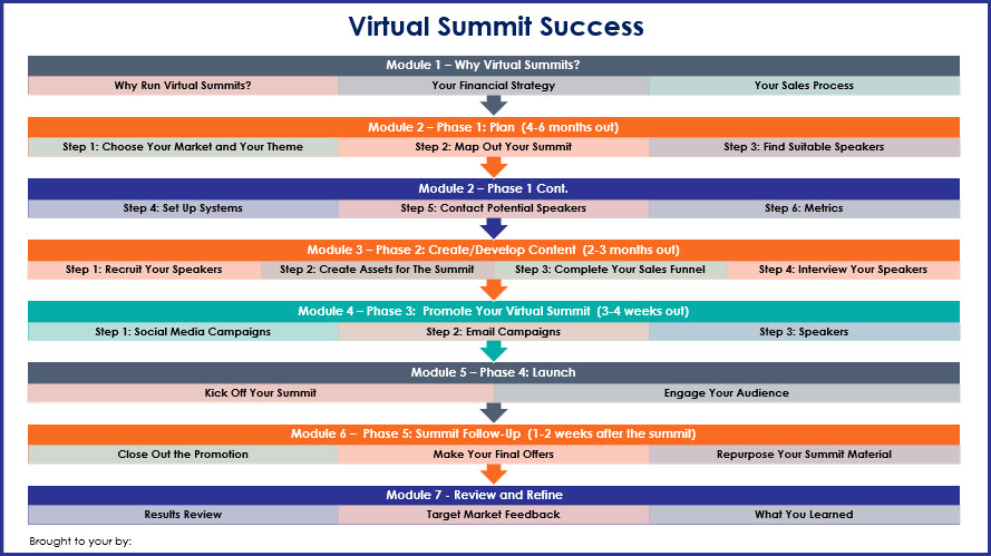 Virtual Summit Success -Overview Infographic