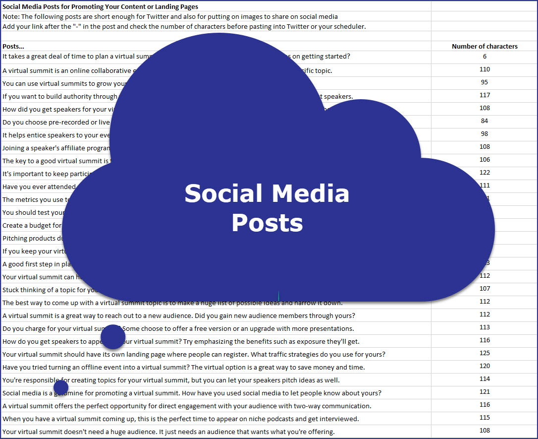 Virtual Summit Success - Social Media Posts