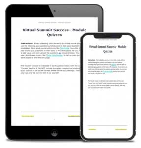 Virtual Summit Success - Module Quizzes