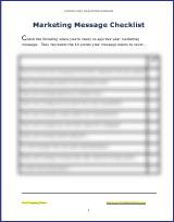 Create Your Marketing Message - Checklist