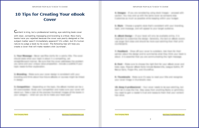 eBook Cover Tips