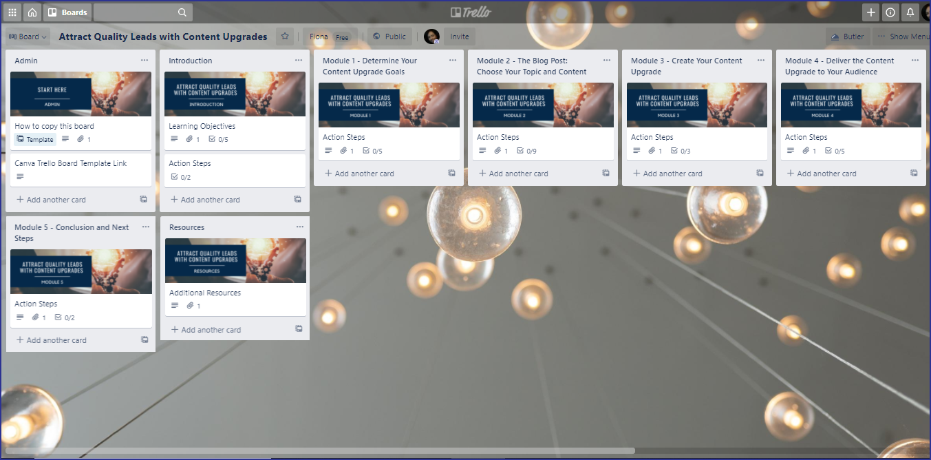 Attract Quality Leads with Content Upgrades Trello Board