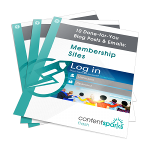 Done for you blog posts and emails on membership sites