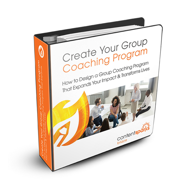 Content Sparks Product Cover - Create Your Group Coaching Program
