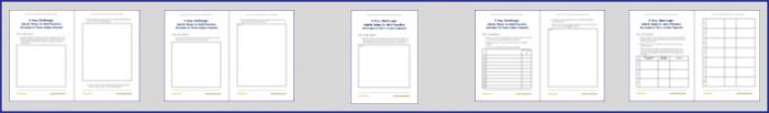 EasyPassive Income Bonus Challenge Worksheets