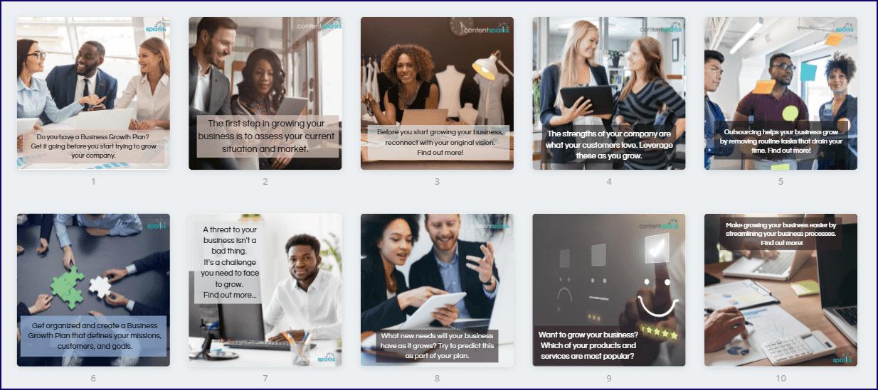 Create Your Business Growth Plan Upgrade Bonus Social Media Images