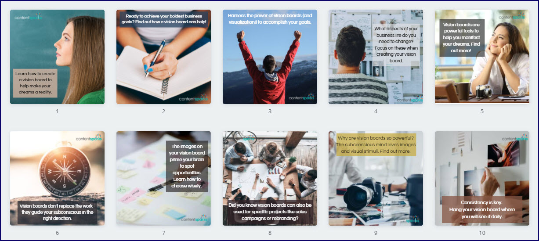 Vision Boards for Business Success Bonus Social Images